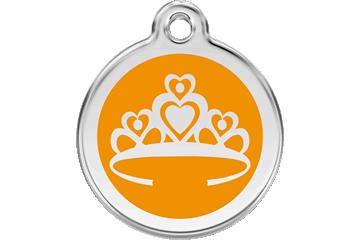 Red Dingo Médaillon en émail Couronne Orange 01-CR-OR (1CROS / 1CROM / 1CROL)