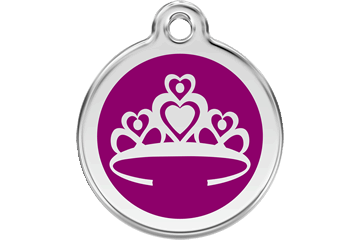 Red Dingo Enamel Tag Crown Purple 01-CR-PU (1CRPS / 1CRPM / 1CRPL)
