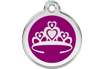 Red Dingo Médaillon en émail Crown Violet 01-CR-PU (1CRPS / 1CRPM / 1CRPL)