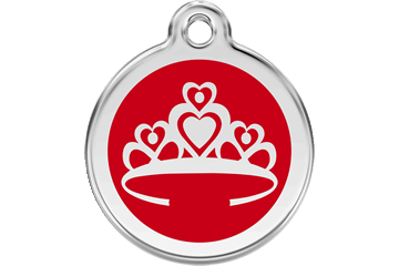 Red Dingo Enamel Tag Crown Red 01-CR-RE (1CRRS / 1CRRM / 1CRRL)
