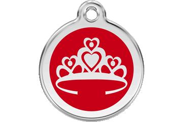 Red Dingo Médaillon en émail Crown Rouge 01-CR-RE (1CRRS / 1CRRM / 1CRRL)