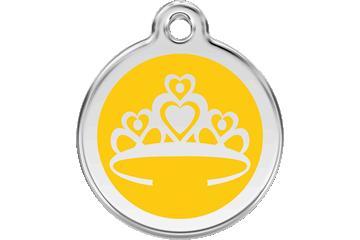 Red Dingo Médaillon en émail Crown Jaune 01-CR-YE (1CRYS / 1CRYM / 1CRYL)