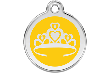 Red Dingo Enamel Tag Crown Yellow 01-CR-YE (1CRYS / 1CRYM / 1CRYL)