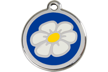 Red Dingo Enamel Tag Daisy Dark Blue 01-DA-DB (1DANS / 1DANM / 1DANL)