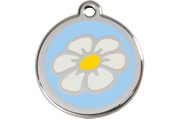 Red Dingo Enamel Tag Daisy Light Blue 01-DA-LB (1DALBS / 1DALBM / 1DALBL)