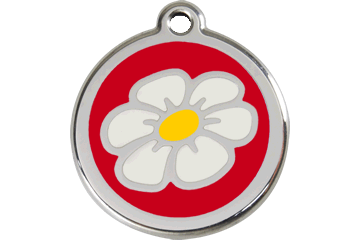 Red Dingo Enamel Tag Daisy Red 01-DA-RE (1DARS / 1DARM / 1DARL)