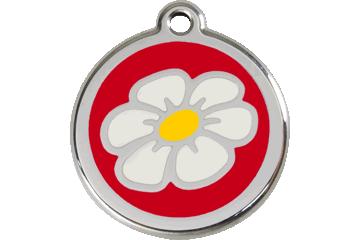 Red Dingo Enamel Tag Daisy Red 01-DA-RE (1DARS / 1DARM / 1DARL)