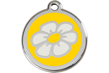 Red Dingo Enamel Tag Daisy Yellow 01-DA-YE (1DAYS / 1DAYM / 1DAYL)