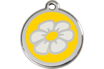 Red Dingo Enamel Tag Daisy Yellow 01-DA-YE (1DAYS / 1DAYM / 1DAYL)