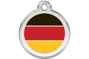 Red Dingo Médaillon en émail Drapeau allemand Rouge 01-DE-RE (1DERS / 1DERM / 1DERL)