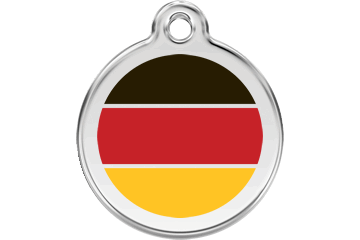 Red Dingo Enamel Tag German Flag Red 01-DE-RE (1DERS / 1DERM / 1DERL)