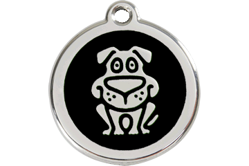 Red Dingo Médaillon en émail Chien Noire 01-DG-BB (1DGBS / 1DGBM / 1DGBL)