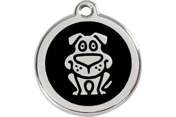 Red Dingo Enamel Tag Dog Black 01-DG-BB (1DGBS / 1DGBM / 1DGBL)