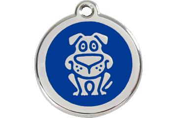 Red Dingo Médaillon en émail Dog Bleu Foncé 01-DG-DB (1DGNS / 1DGNM / 1DGNL)