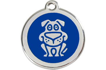 Red Dingo Enamel Tag Dog Dark Blue 01-DG-DB (1DGNS / 1DGNM / 1DGNL)