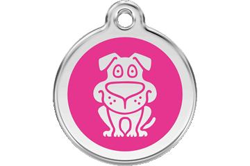 Red Dingo Médaillon en émail Dog Rose Bonbon 01-DG-HP (1DGHPS / 1DGHPM / 1DGHPL)