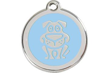 Red Dingo Enamel Tag Dog Light Blue 01-DG-LB (1DGLBS / 1DGLBM / 1DGLBL)