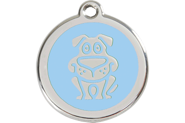 Red Dingo Enamel Tag Dog Light Blue 01-DG-LB (1DGLBS / 1DGLBM / 1DGLBL)