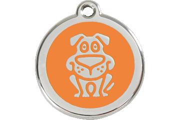 Red Dingo Médaillon en émail Dog Orange 01-DG-OR (1DGOS / 1DGOM / 1DGOL)