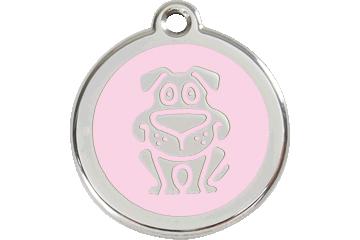 Red Dingo Tiermarke mit Emaille Hund Pink 01-DG-PK (1DGPKS / 1DGPKM / 1DGPKL)