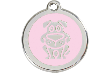Red Dingo Médaillon en émail Dog Rose 01-DG-PK (1DGPKS / 1DGPKM / 1DGPKL)