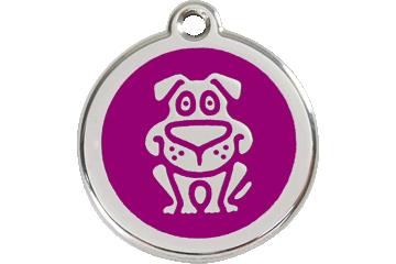 Red Dingo Médaillon en émail Dog Violet 01-DG-PU (1DGPS / 1DGPM / 1DGPL)