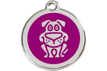 Red Dingo Enamel Tag Dog Purple 01-DG-PU (1DGPS / 1DGPM / 1DGPL)