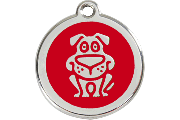 Red Dingo Enamel Tag Dog Red 01-DG-RE (1DGRS / 1DGRM / 1DGRL)