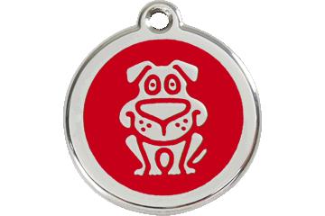 Red Dingo Enamel Tag Dog Red 01-DG-RE (1DGRS / 1DGRM / 1DGRL)