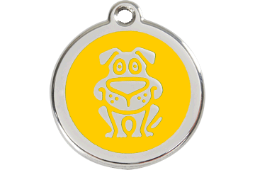 Red Dingo Enamel Tag Dog Yellow 01-DG-YE (1DGYS / 1DGYM / 1DGYL)
