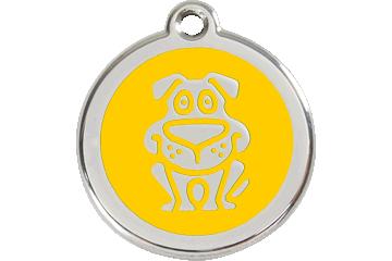Red Dingo Enamel Tag Dog Yellow 01-DG-YE (1DGYS / 1DGYM / 1DGYL)