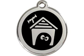 Red Dingo Médaillon en émail Dog House Noire 01-DH-BB (1DHBS / 1DHBM / 1DHBL)