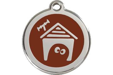 Red Dingo Médaillon en émail Dog House Marron 01-DH-BR (1DHBRS / 1DHBRM / 1DHBRL)