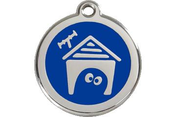 Red Dingo Médaillon en émail Dog House Bleu Foncé 01-DH-DB (1DHNS / 1DHNM / 1DHNL)