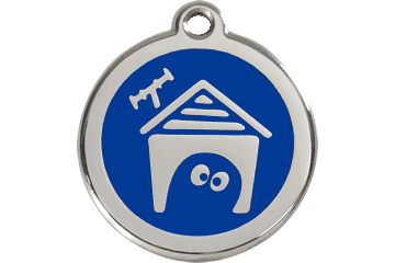 Red Dingo Enamel Tag Dog House Dark Blue 01-DH-DB (1DHNS / 1DHNM / 1DHNL)