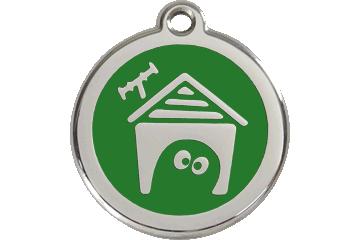Red Dingo Médaillon en émail Dog House Vert 01-DH-GR (1DHGS / 1DHGM / 1DHGL)