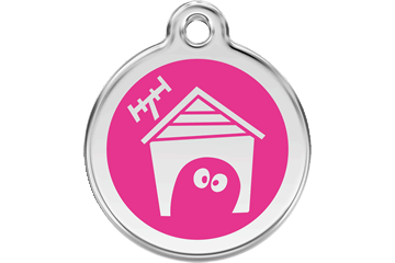 Red Dingo Enamel Tag Dog House Hot Pink 01-DH-HP (1DHHPS / 1DHHPM / 1DHHPL)
