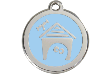 Red Dingo Enamel Tag Dog House Light Blue 01-DH-LB (1DHLBS / 1DHLBM / 1DHLBL)