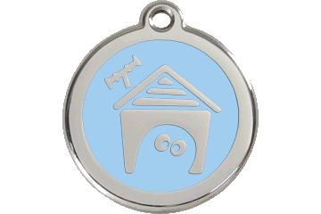 Red Dingo Médaillon en émail Dog House Bleu Clair 01-DH-LB (1DHLBS / 1DHLBM / 1DHLBL)