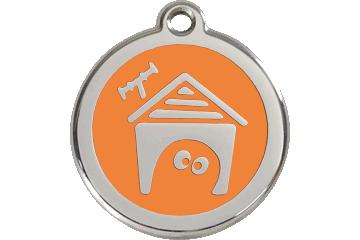 Red Dingo Médaillon en émail Dog House Orange 01-DH-OR (1DHOS / 1DHOM / 1DHOL)