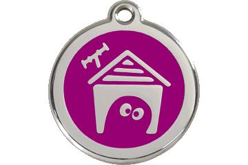 Red Dingo Médaillon en émail Dog House Violet 01-DH-PU (1DHPS / 1DHPM / 1DHPL)
