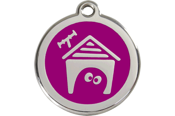 Red Dingo Enamel Tag Dog House Purple 01-DH-PU (1DHPS / 1DHPM / 1DHPL)