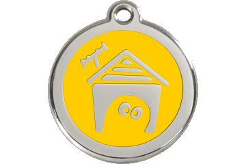 Red Dingo Médaillon en émail Dog House Jaune 01-DH-YE (1DHYS / 1DHYM / 1DHYL)