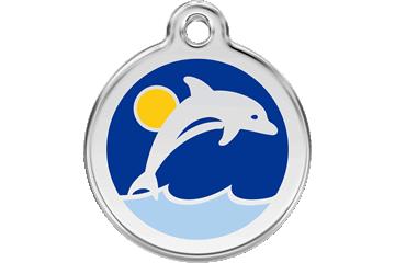Red Dingo Médaillon en émail Dolphin Bleu Foncé 01-DL-DB (1DLNS / 1DLNM / 1DLNL)