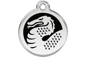 Red Dingo Enamel Tag Dragon Nero 01-DN-BB (1DNBS / 1DNBM / 1DNBL)