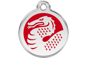 Red Dingo Enamel Tag Dragon Red 01-DR-RE (1DRRS / 1DRRM / 1DRRL)