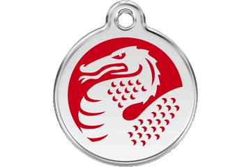 Red Dingo Médaillon en émail Dragon Rouge 01-DR-RE (1DRRS / 1DRRM / 1DRRL)