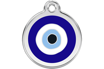 Red Dingo Enamel Tag Evil Eye Dark Blue 01-EE-DB (1EENS / 1EENM / 1EENL)