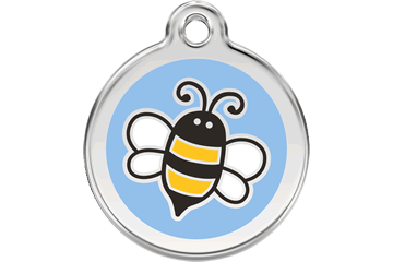 Red Dingo Enamel Tag Bumble Bee Light Blue 01-EL-LB (1ELLBS / 1ELLBM / 1ELLBL)