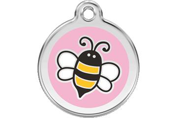 Red Dingo Enamel Tag Bumble Bee Pink 01-EP-PK (1EPPKS / 1EPPKM / 1EPPKL)